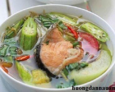 Cách nấu canh chua đầu cá hồi ngon không tanh với công thức chuẩn nhất