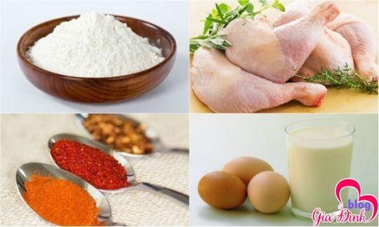 Sơ chế nguyên liệu nấu gà chiên xù