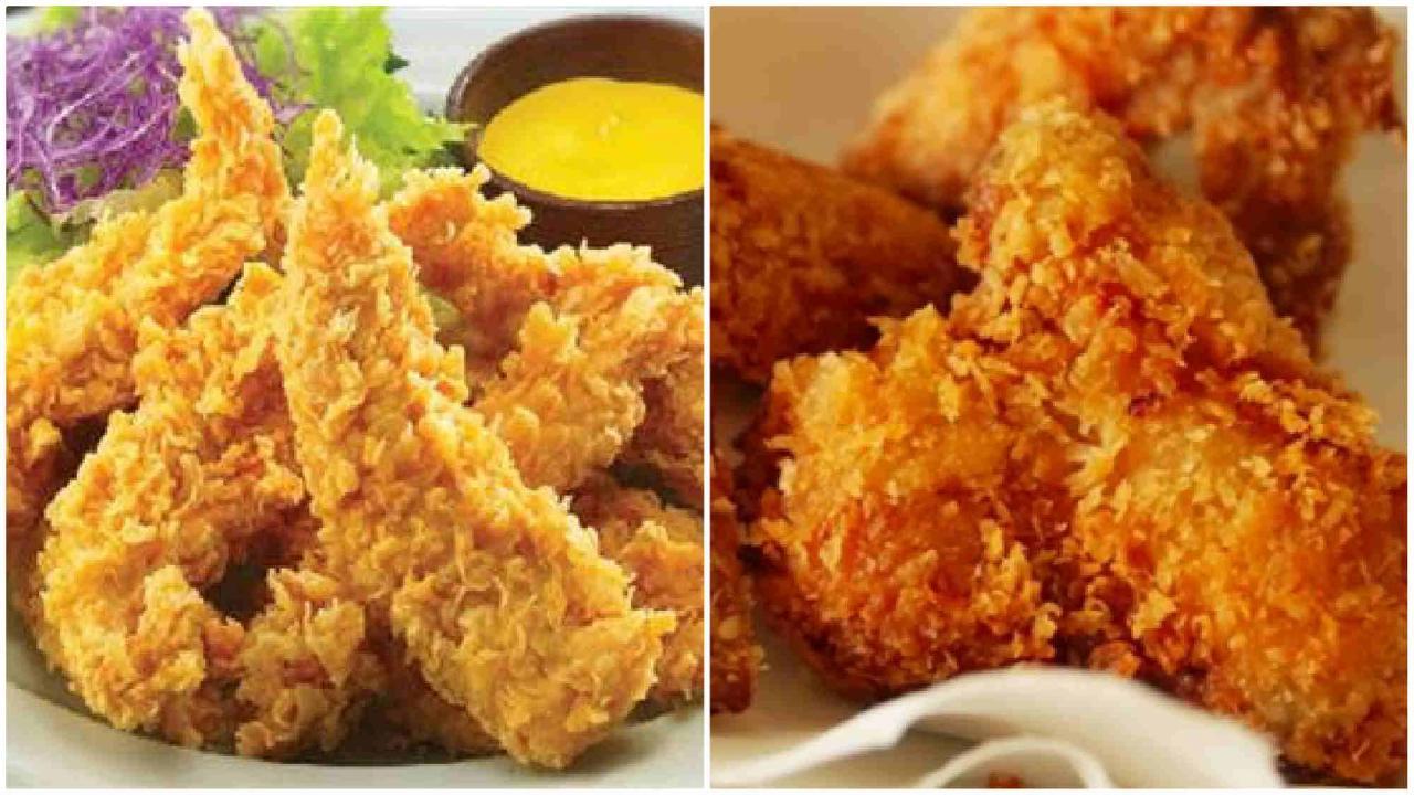Thưởng thức món thịt gà chiên xù