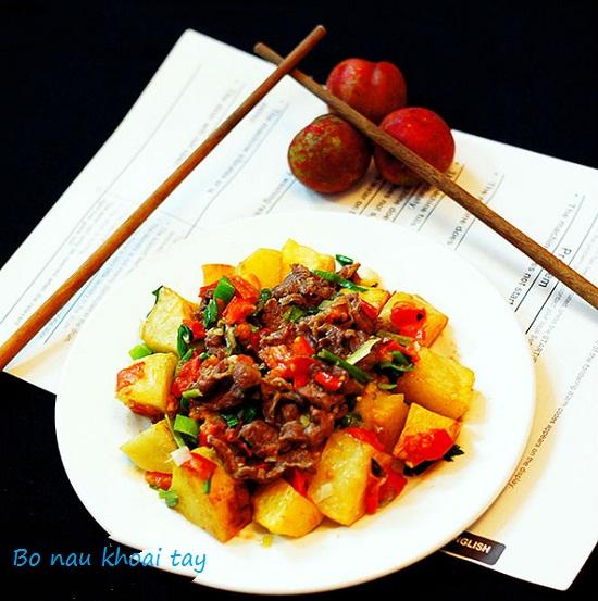 Cách nấu bò kho khoai tây hình 1
