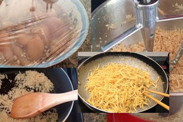 Cách làm chà bông thịt heo hình 4