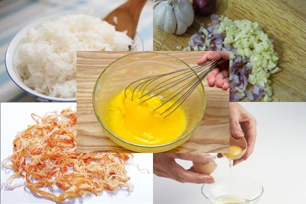Cách làm cơm chiên cá mặn hình 2