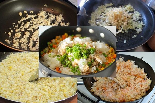 Cách làm cơm chiên cá mặn hình 3