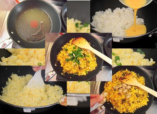 Cách rang cơm ngon hình 3