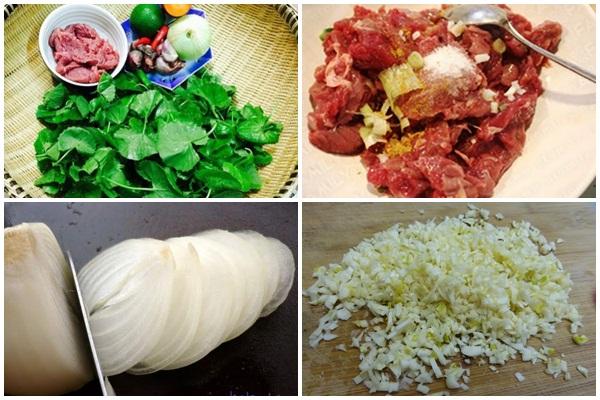 Cách làm thịt dê xào rau má hình 2