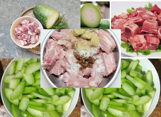 Cách nấu canh bí đao nấu sườn hình 2