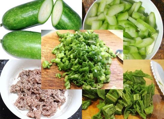 Cách nấu canh bí đao nấu thịt hình 2