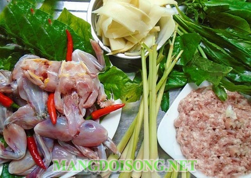 Cách nấu lẩu ếch hình 2