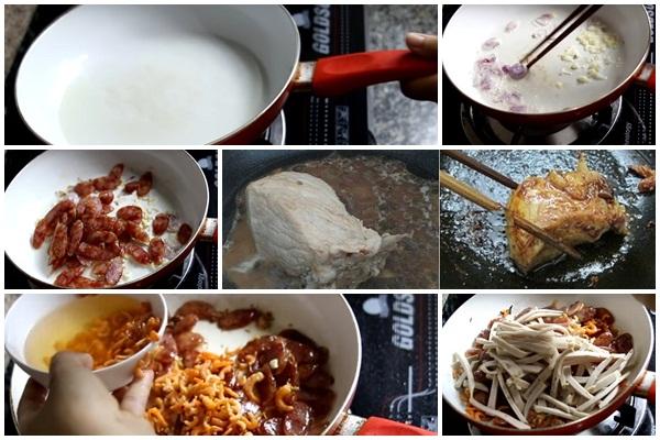 Cách nấu xôi mặn hình 3