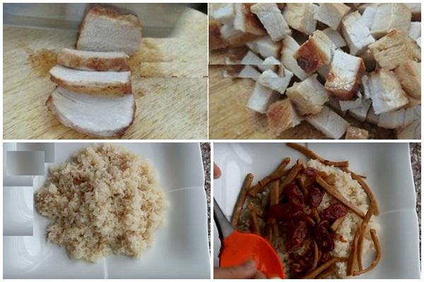 Cách nấu xôi mặn hình 5