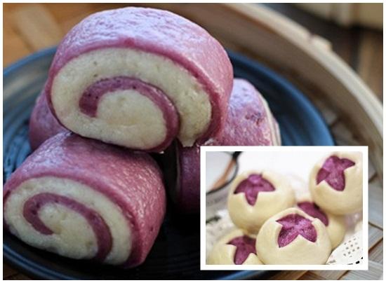 Cách làm bánh bao hai màu hình 6
