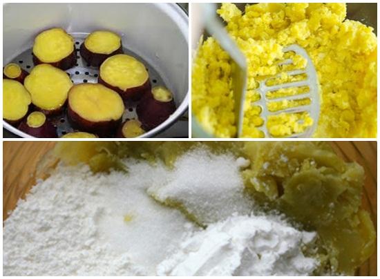 Cách làm bánh bao khoai lang vàng hình 2