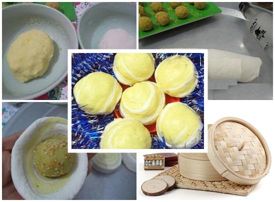 Cách làm bánh bao khoai lang vàng hình 4