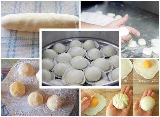 Cách làm bánh bao sữa trứng hình 4