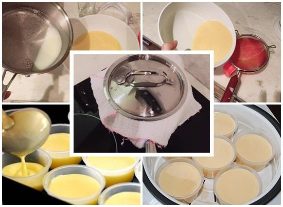 Cách làm bánh flan bằng sữa mẹ hình 3