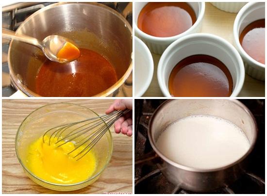 Cách làm bánh flan bằng sữa tươi không đường hình 2