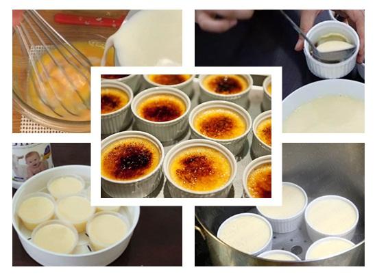 Cách làm bánh flan bằng sữa tươi và sữa đặc hình 3