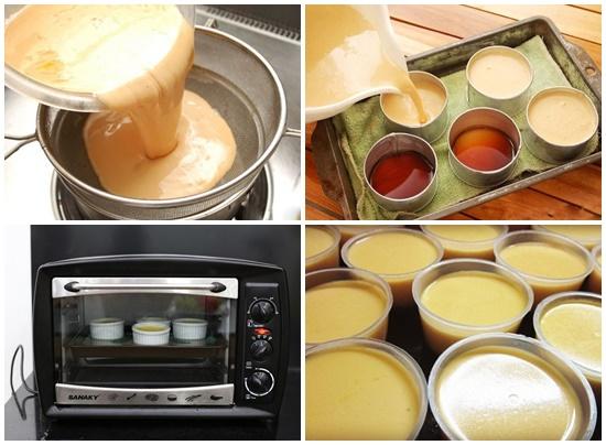 Cách làm bánh flan cà phê hình 3