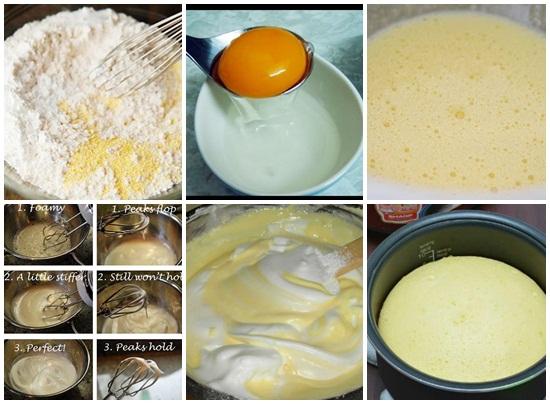 Cách làm bánh kem bằng nồi cơm điện hình 2