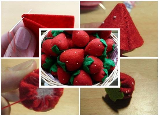 Cách làm bánh kem bằng vải nỉ hình 4