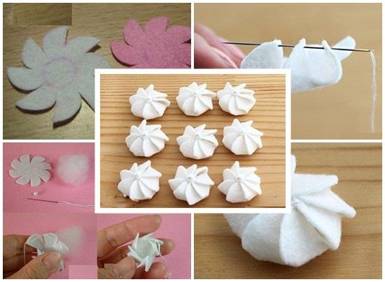 Cách làm bánh kem bằng vải nỉ hình 5
