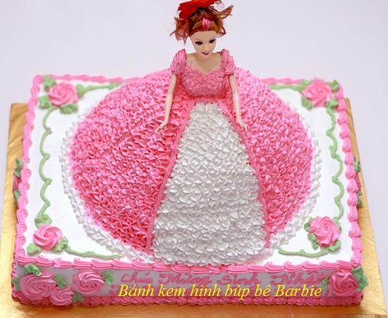Cách làm bánh kem barbie hình 1