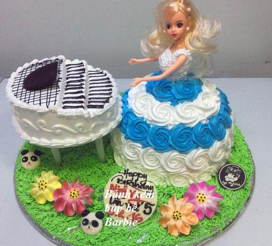 Cách làm bánh kem barbie hình 4