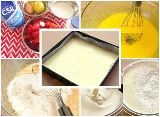 Cách làm bánh kem dâu tây hình 2