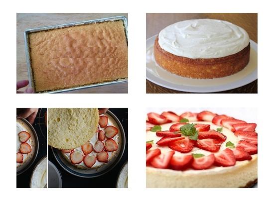 Cách làm bánh kem dâu tây hình 4