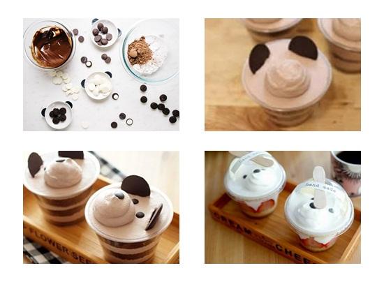 Hoàn thành bánh kem hình gấu
