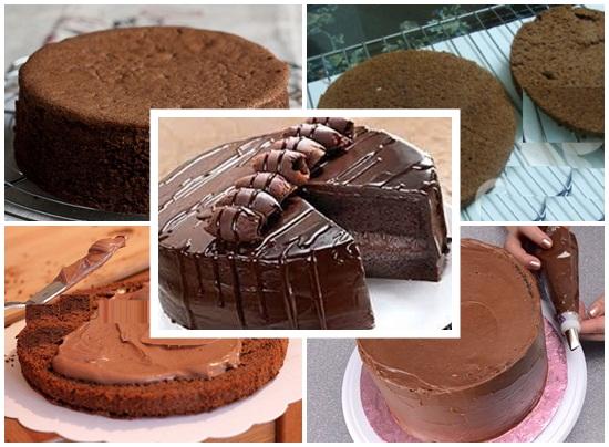 Cách làm bánh kem socola hình 4