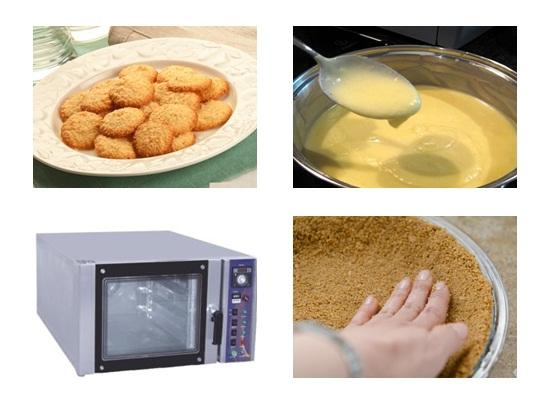 Chế biến phần đế bánh kem