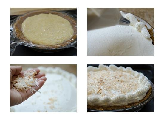 Làm hoàn thành bánh kem dừa