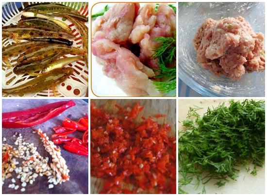 Sơ chế cá bống và các loại nguyên liệu khác