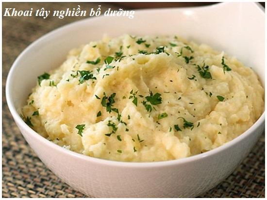 Cách làm khoai tây nghiền