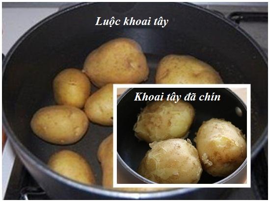Chế biến và hấp khoai tây