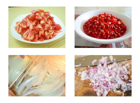 Sơ chế nguyên liệu nước sốt cà chua