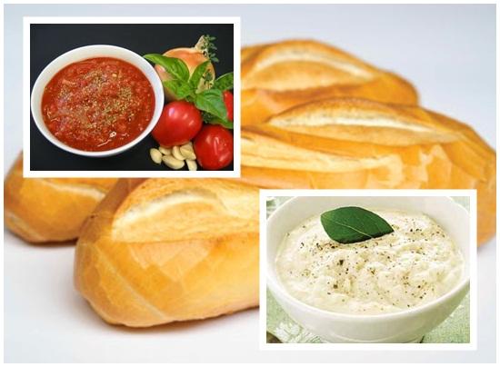 Trình bày và thưởng thức món nước sốt bánh mỳ