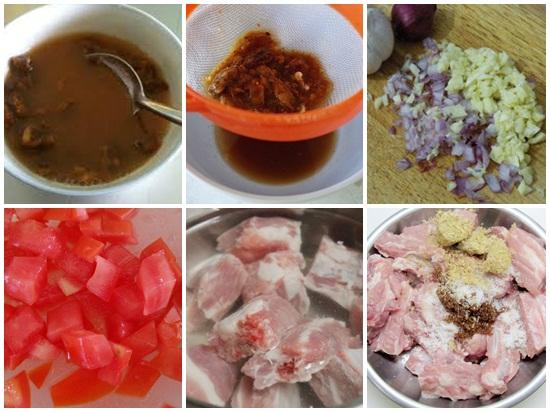 Cách làm sườn xào chua ngọt bằng me hình 2