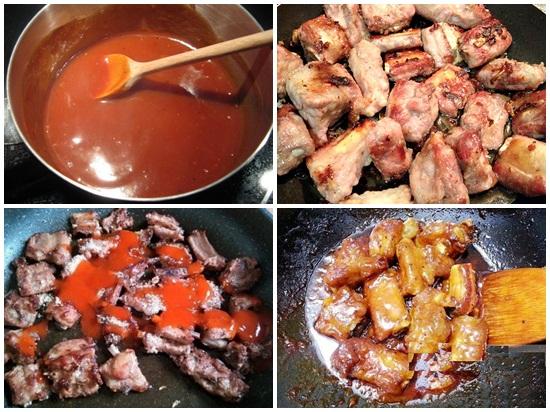 Cách làm sườn xào chua ngọt bằng tương ớt hình 3