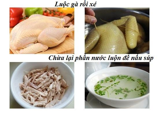Cách nấu súp gà hạt sen hình 2
