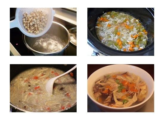 Cách nấu súp gà hạt sen hình 4