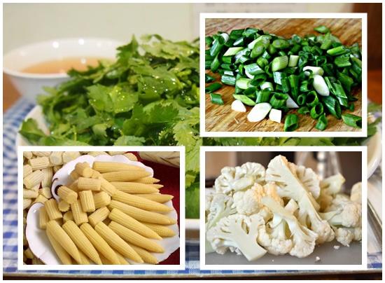 Nguyên liệu rau củ những loại rau củ