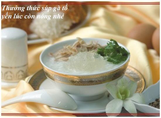 Cách nấu súp gà tổ yến hình 4