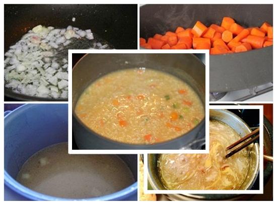 Cách nấu súp gà tôm hình 3