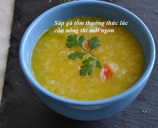 Cách nấu súp gà tôm hình 4