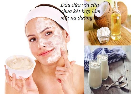 Làm mặt nạ dưỡng da với dầu dừa và sữa chua hình 1