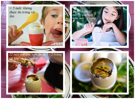 Ăn trứng vịt lộn nhiều có tốt không hình 3