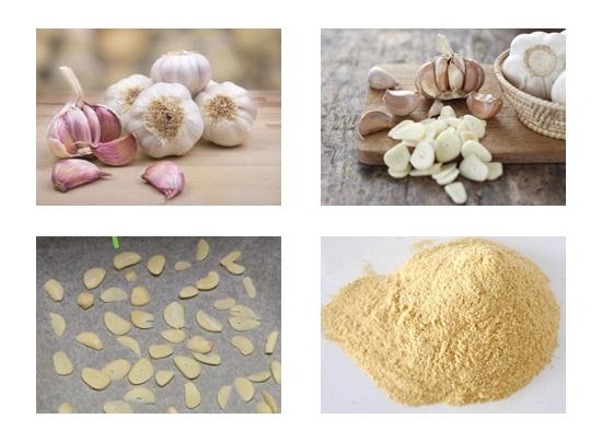 Tiếp đó ta chế biến bột tỏi khô