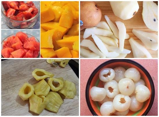 cách làm hoa quả dầm hình 2